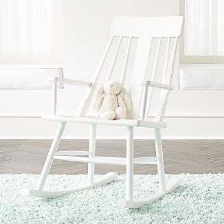 crate and barrel rocking chair evenflo modern 200 high chairs brighton mid century white