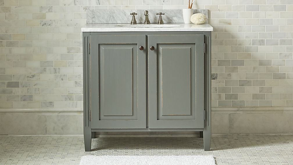 britta single vanity | crate and barrel