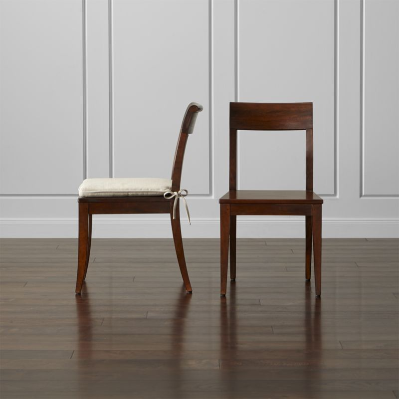 at home chairs rustic dining room tables and cabria honey brown wood chair cushion crate barrel