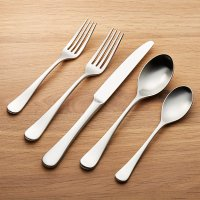 Caesna Satin 5-Piece Flatware Place Setting | Crate and Barrel