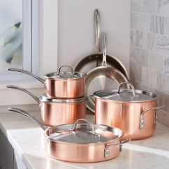 Kitchen Pans Summer Ideas Calphalon Tri Ply Copper 10 Piece Cookware Set Reviews Crate And Barrel