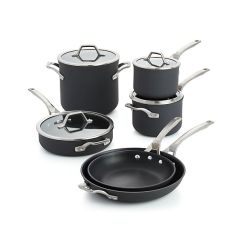 Calphalon Kitchen Outlet Horizontal Grain Cabinets Signature Non-stick 10-piece Cookware Set With ...