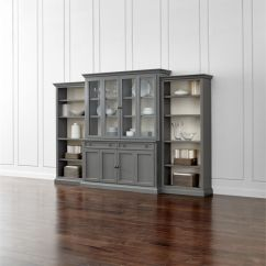 Ikea Usa Living Room Led Lighting Ideas Cameo 4-piece Grey Glass Door Wall Unit With Open ...