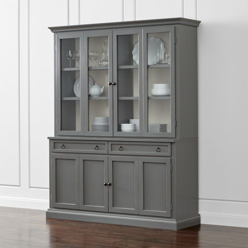 Cameo 2Piece Grey Glass Door Wall Unit  Crate and Barrel