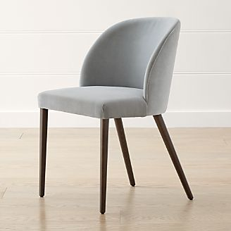 grey dining chairs hydraulic styling chair shop kitchen crate and barrel camille mist italian