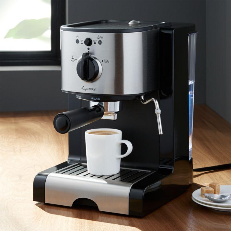 espresso dining chair disney princess capresso ec100 machine + reviews | crate and barrel