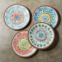 """Caprice 8.5"""" Melamine Salad Plates, Set of 4   Crate and ..."""