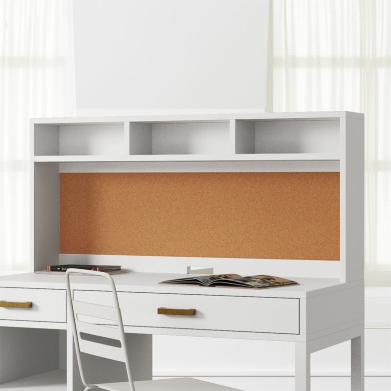 White Hutch Desk