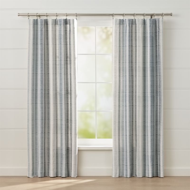 Carmelo Patterned Curtains Crate And Barrel