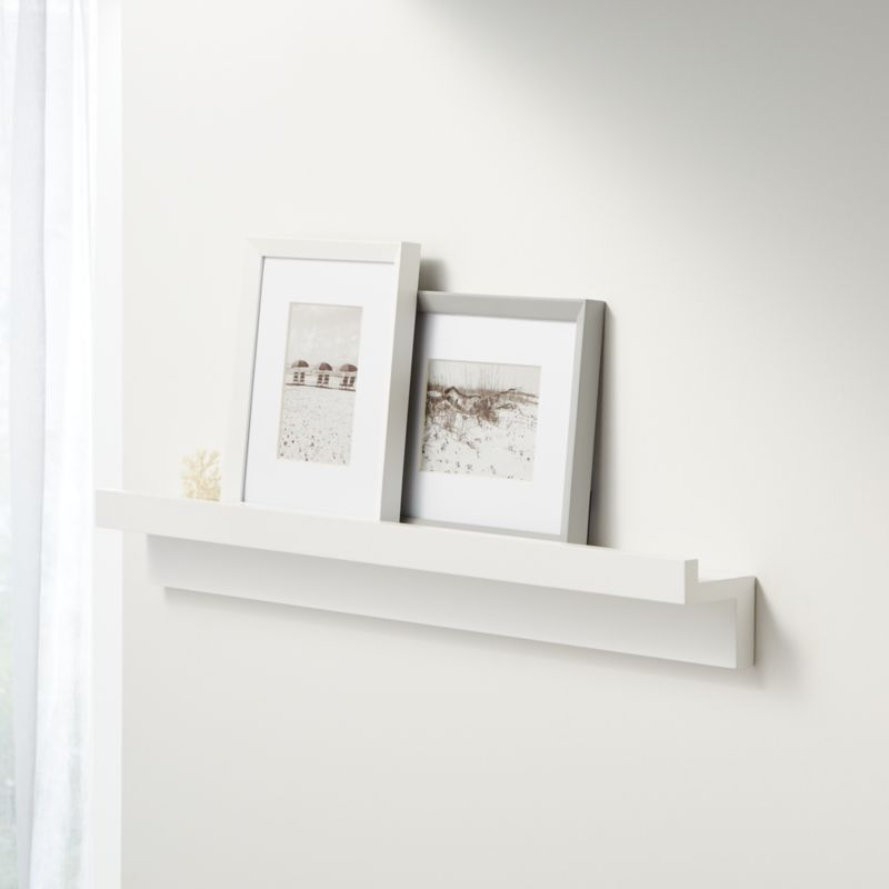 Carren 36quot Floating White Ledge Shelf With Lip Reviews