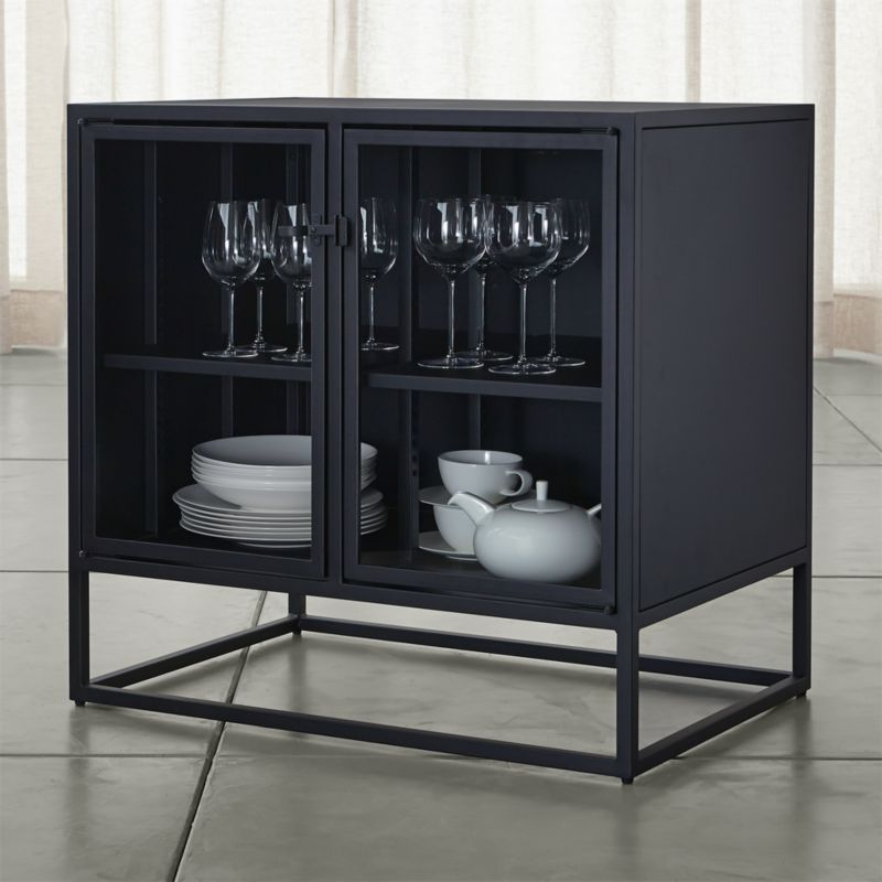 Casement Black Small Sideboard Reviews Crate And Barrel