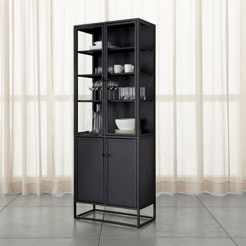 Casement Black Tall Cabinet  Reviews  Crate and Barrel