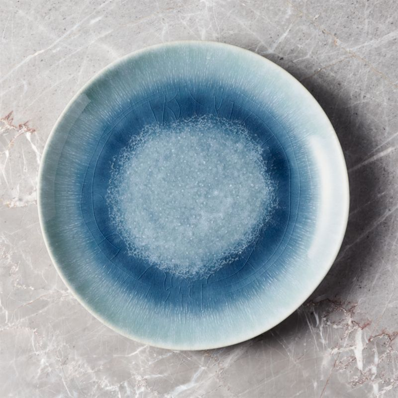 Caspian Blue Reactive Glaze Dinner Plate  Reviews  Crate