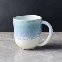 Caspian Blue Reactive Glaze Mug + Reviews   Crate and Barrel