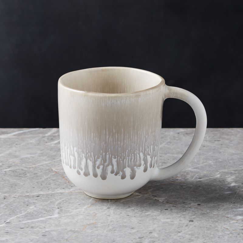 gray and white accent chairs green painted caspian grey reactive glaze mug + reviews | crate barrel
