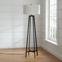 Castillo Black Floor Lamp + Reviews | Crate and Barrel