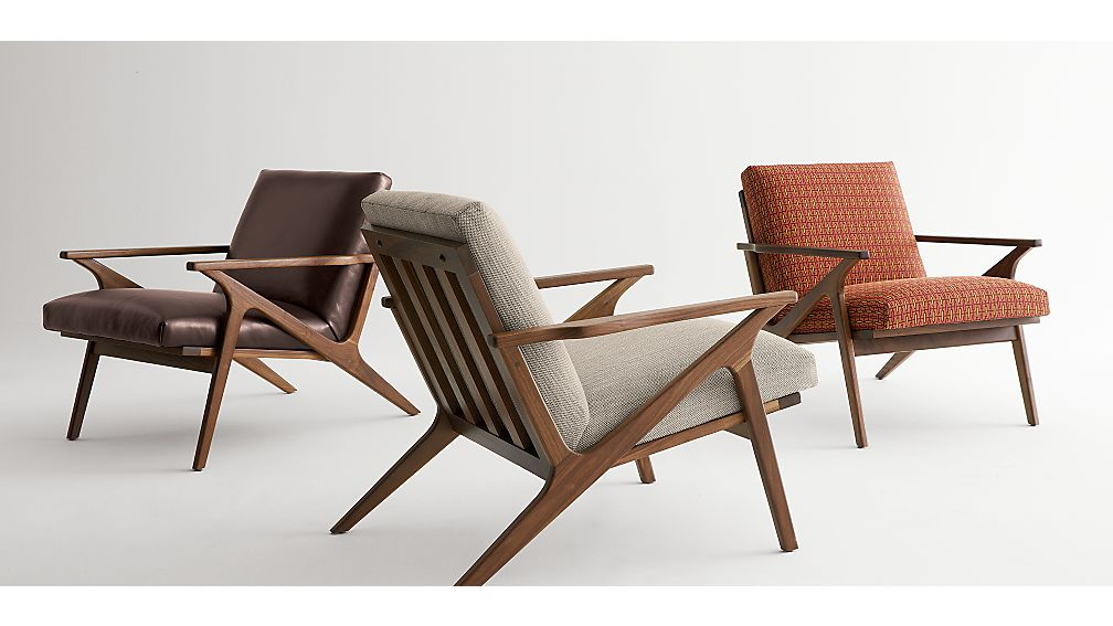 Cavett Mid Century Lounge Chair  Crate and Barrel