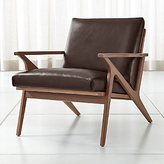 leather armchair metal frame ethan allen queen anne dining chairs wood armchairs crate and barrel cavett chair