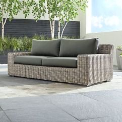 Woven Outdoor Chair Covers From Wayfair Resin Wicker Patio Furniture Crate And Barrel Cayman Sofa With Graphite Sunbrella Cushions