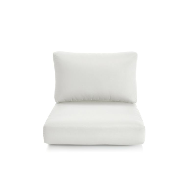 white lounge chair cushions bedroom manufacturers cayman sand sunbrella reviews crate and barrel