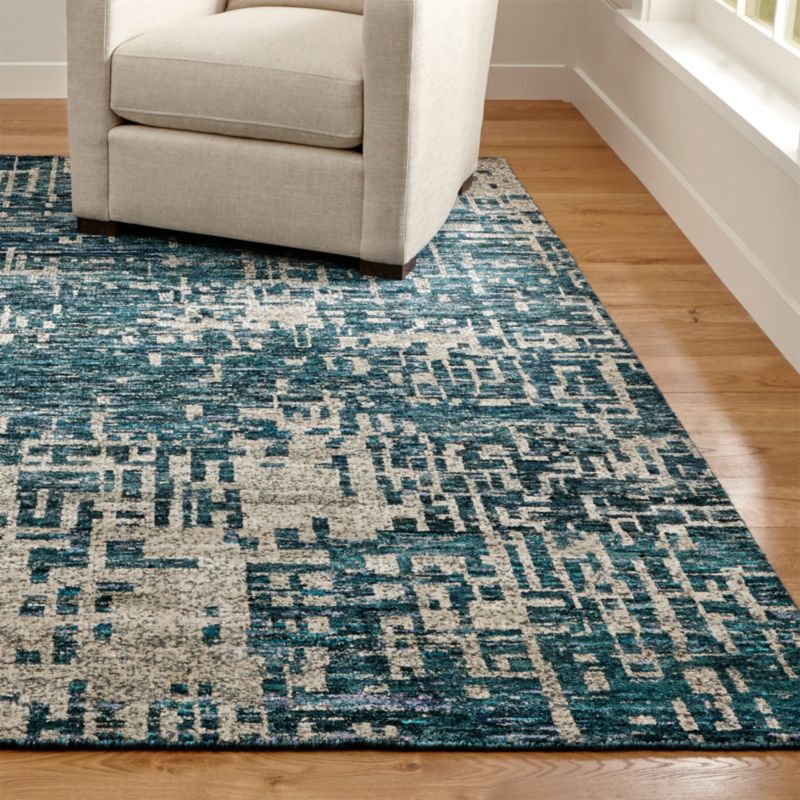 land of nod chair youth bedroom celosia indigo blue hand knotted rug | crate and barrel