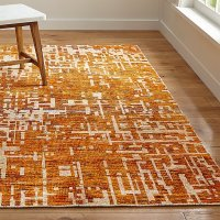 Celosia Orange Hand Knotted Rug | Crate and Barrel