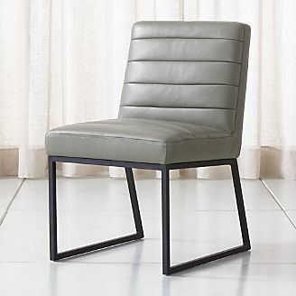 grey kitchen chairs adrian pearsall chair for sale shop dining crate and barrel channel leather side