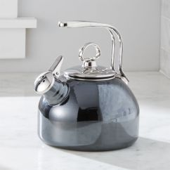 Outdoor Kitchen Modular Garden Window Chantal Whistling Tea Kettle In Onyx + Reviews | Crate And ...