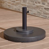 Large Charcoal Outdoor Patio Umbrella Stand | Crate and Barrel