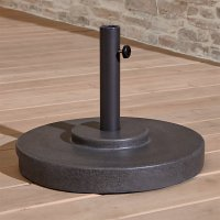 Small Charcoal Outdoor Patio Umbrella Stand | Crate and Barrel