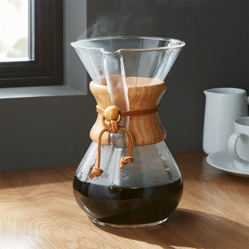 Chemex 6 Cup Coffeemaker With Wood Collar Crate And Barrel
