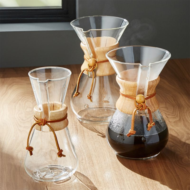 kitchen counter chairs cherry wood cabinet doors chemex coffee makers with collar | crate and barrel