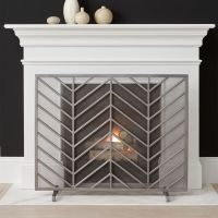 Chevron Fireplace Screen | Crate and Barrel