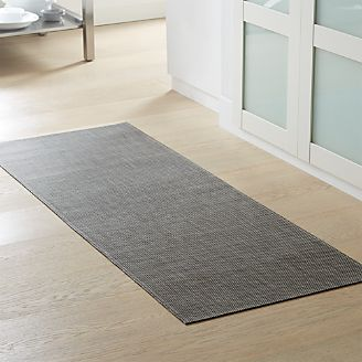 kitchen rug runners motion faucet for hallway outdoor crate and barrel chilewich basketweave oyster woven floormat