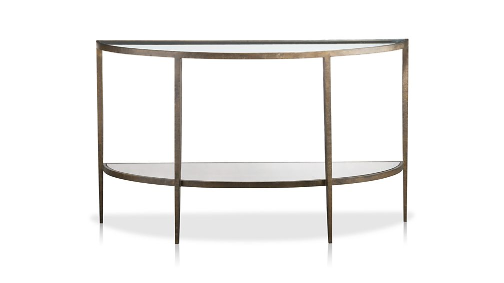 Clairemont Demilune Console Table Reviews Crate And Barrel