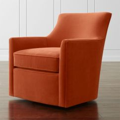 Clara Chair Crate And Barrel Outside Swing Swivel Dune: Sunset |