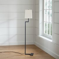 Clare Antiqued Bronze Floor Lamp | Crate and Barrel