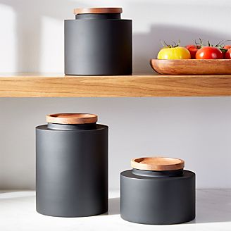decorative kitchen canisters sets white set food storage containers: glass and plastic | crate barrel