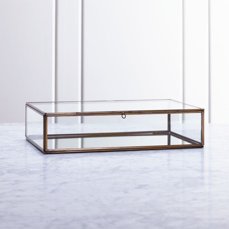 Clarus Large Brass Glass Display Box Reviews Crate And
