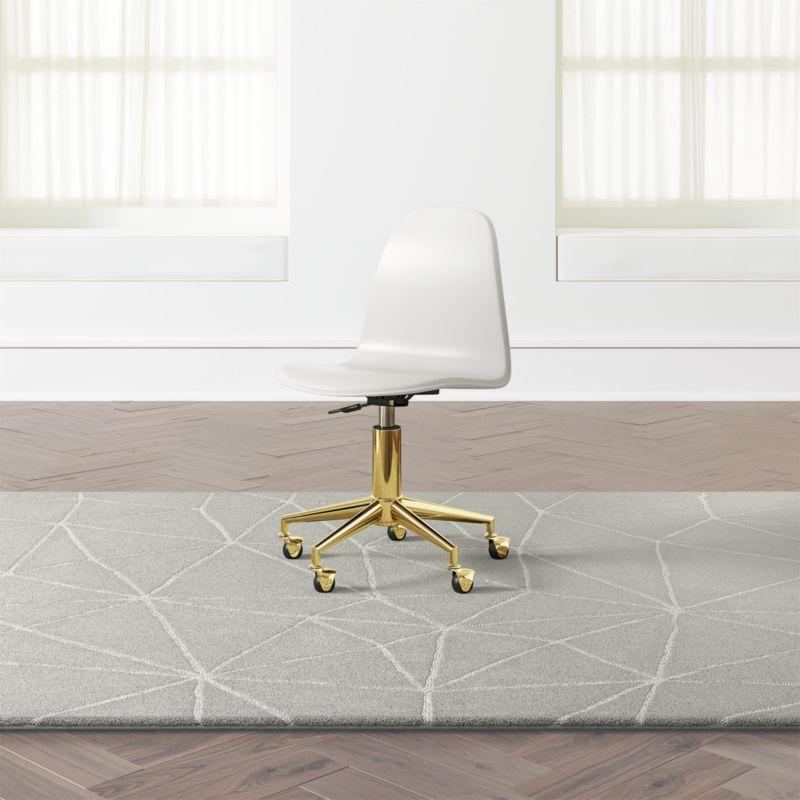 wooden white desk chair hardwood floor leg protectors kids and gold reviews crate barrel classactgoldwhtdskchrshs18 3d 1x1