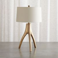 Cleo Brass Tripod Table Lamp + Reviews | Crate and Barrel