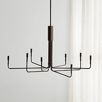 Clive 8 Arm Bronze Chandelier