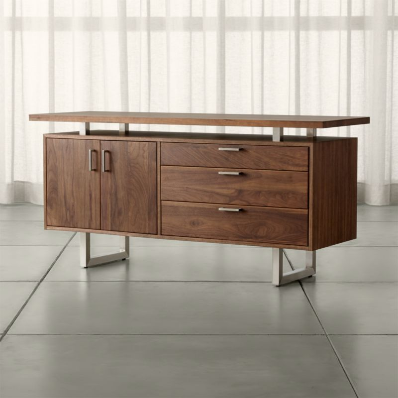 Clybourn Walnut Credenza  Reviews  Crate and Barrel