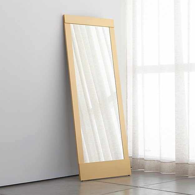 Colby Soft Gold Floor Mirror  Crate and Barrel