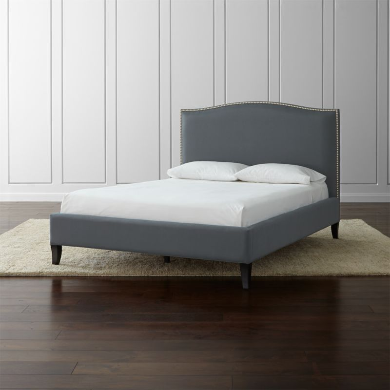 Colette Queen Upholstered Bed 525  Reviews  Crate and