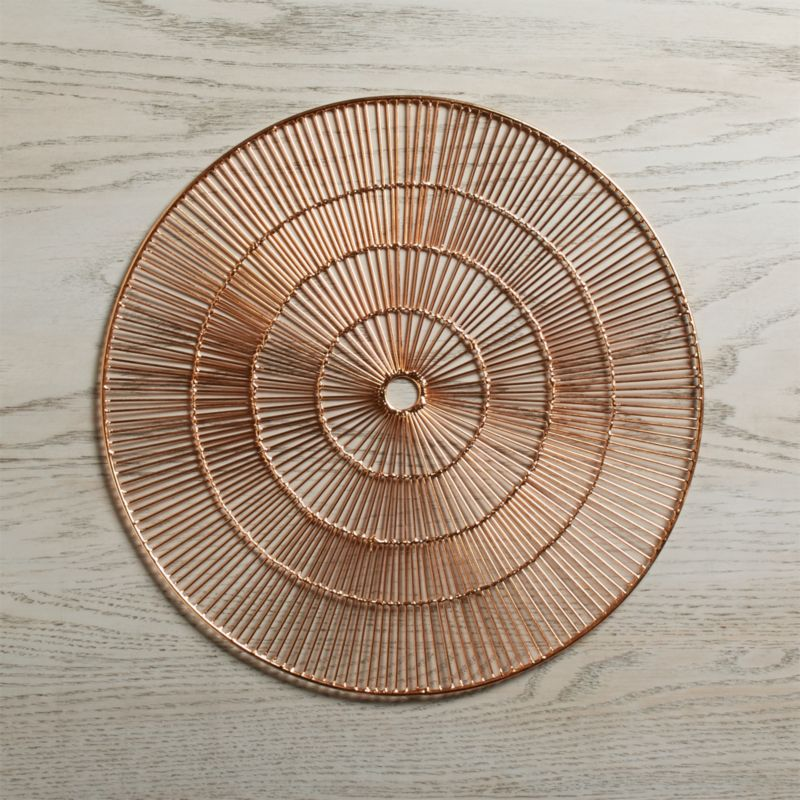 Round Copper Placemat  Reviews  Crate and Barrel
