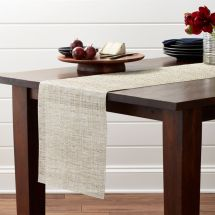 "Chilewich Crepe Neutral 72"" Table Runner Crate And Barrel"