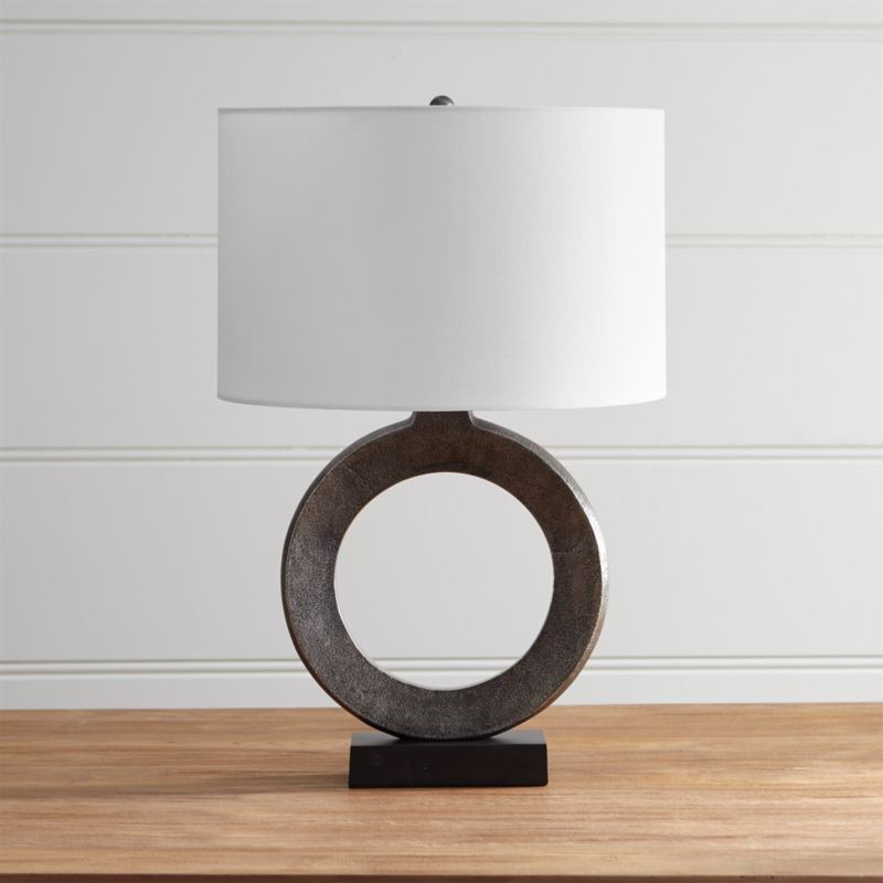 Crest Table Lamp with White Shade  Reviews  Crate and Barrel