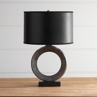 Crest Table Lamp with Black Shade | Crate and Barrel