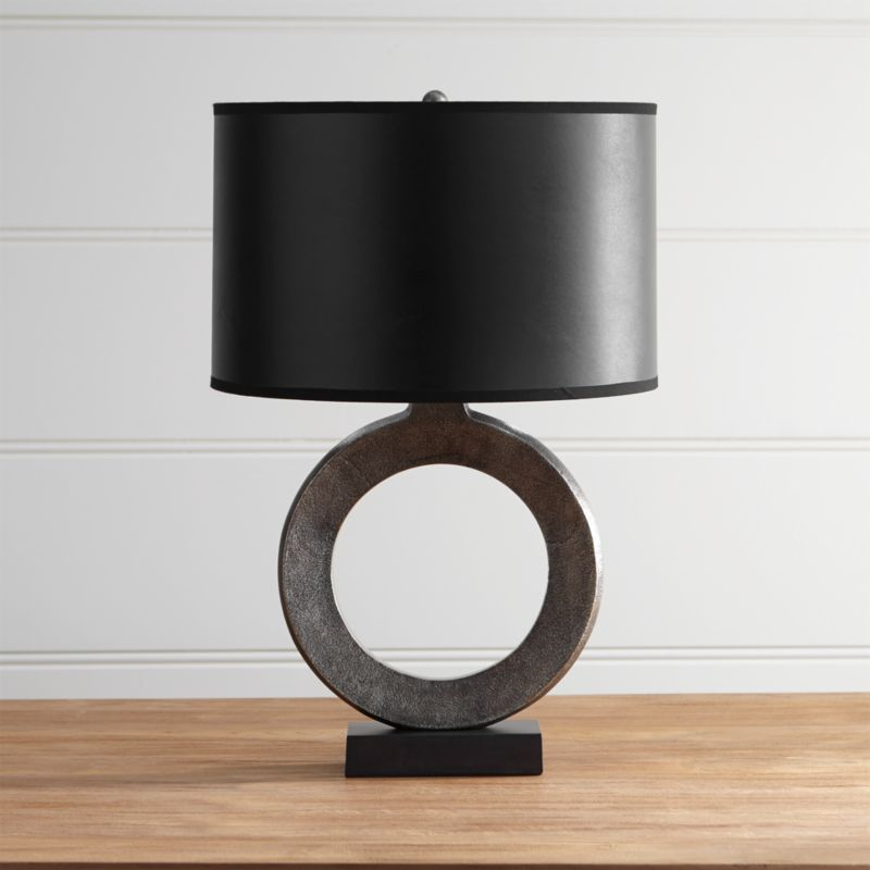 black barrel chair used high chairs crest table lamp with shade + reviews | crate and